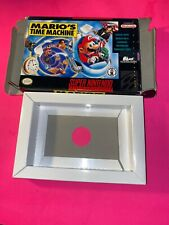 Snes Marios Time Machine Box Only.  No Game Or Manual
