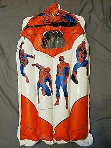 Vintage Plastic Spiderman Inflatable Blow Up Pool float 1977 Hangable