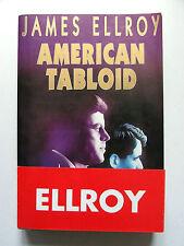 JAMES ELLROY : AMERICAN TABLOÏD / DÉDICACE & DESSIN D'ELLROY / RIVAGES / 1995 EO
