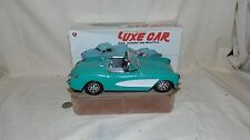 LUXE CAR MINT GREEN 1957 CORVETTE CAR MF 329 WITH BOX FRICTION
