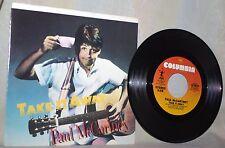 "The Beatles-Paul McCartney-45 RPM-7""-Columbia Records-""Take It Away"""
