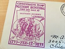 OGLETHORPE UNIVERSITY OF GEORGIA     1933   POSTAL COVER