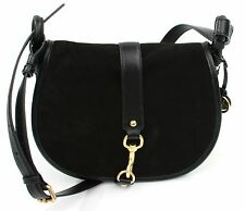 Michael Kors Jamie Black Suede Cross Body Shoulder Bag Medium Handbag