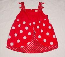 EUC Gymboree POLKA DOT LADYBUG Red Polka Dot Minnie Mouse Swing Top Size 5 VHTF