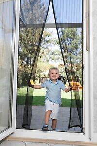Fliegengitter Insektengitter Fenster Türen Insektenschutz 90x210 cm Premium