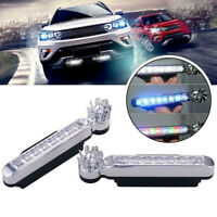 2Pcs Wind Power Car Daytime Running Light 8 LED DRL Daylight Wireless Headlight