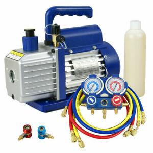 R134a HVAC Manifold Air Condition A/C R134A With 3,5CFM Vacuum Pump Kit