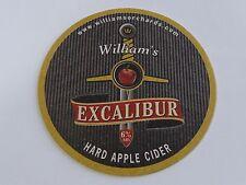 Beer Bar Coaster: William's EXCALIBUR Hard Apple Cider ~ Shepton Mallet, ENGLAND