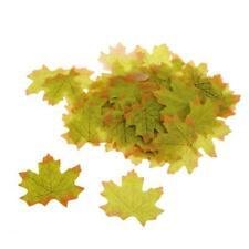 100pcs Feuille d'érable artificielle Garland Silk Feuilles d'automne Décor