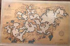 "1906 U.S. Army Map of Lake Minnetonka Minnesota Excelsior Wayzata 24""x36"""