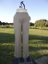 Flattering CASUAL COMFORT Khaki Pull On Cotton Trousers Size 16 BNWT
