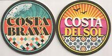 "Bierdeckel aus Spanien - ""Costa Brava - Costa del Sol"""