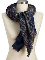 NEW WITH TAG NWT OLD NAVY SEQUINED PLAID GAUZE SCARF CUTE PRETTY