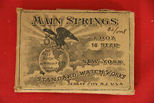 MAINSPRING - NOS - FITS NEW YORK STANDARD 16s POCKET WATCHES