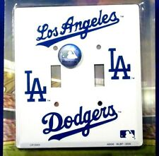 Novelty Los Angeles Dodgers double light switch cover New Aluminum USA LS-12025
