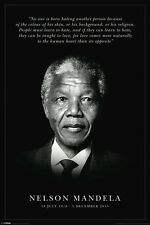 Nelson Mandela BRAND NEW Poster If we can learn to hate we can be taught to love