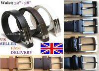 "Brand New Men's Plain Leather Belt for Formal / Casual / Jeans  Waist 32"" - 38"""