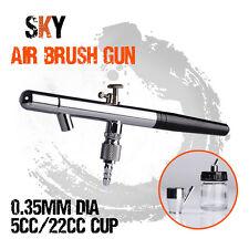 0.35mm Dual Action Gravity Spray Airbrush Air Brush Gun Nail Art Make Up Tattoo