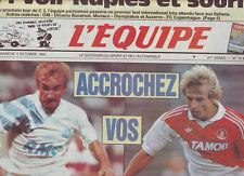 journal  l'equipe 03/10/92 FOOTBALL AVANT MARSEILLE MONACO RUGBY AFRIQUE DU SUD