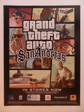 2005 Print Ad Grand Theft Auto San Andreas Video Game ~ In Stores Now