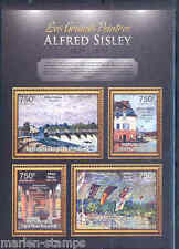 CENTRAL AFRICA 2012 ALFRED SISLEY SHEET MINT NH