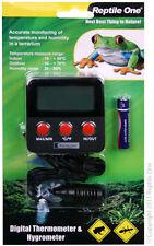 Reptile One R1-46602 LCD Digital Hygrometer & Thermometer 2xProb Reptil&Amphib.