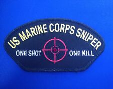 US MARINE CORP SNIPER AMERICAN MILITARY  BIKER PATCH SOLDIER MOTORCYCLE