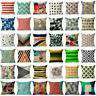 Vintage Geometric Cotton Linen Throw Pillow Case Cushion Cover Home Xmas Decor