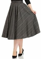 VOODOO VIXEN NWT Gray Plaid FULL CIRCLE Vintage 50's Style Retro Swing Skirt 14