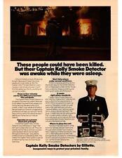 1976 Captain Kelly Smoke Dectors By Gillette House Fire Alarm Home Unit Print Ad
