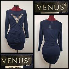 Venus Women Long Sleeve ruched beaded short dress size large