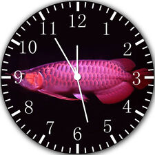 Arowana Fish Frameless Borderless Wall Clock Nice For Gifts or Decor Y76