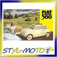 FIBB23 FIAT 500 LOCANDINE IN LATTA CM 30X40 MONTI 500/FIAT UFFICIALE ORIGINALE