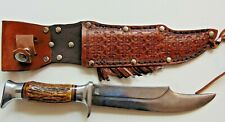 VINTAGE EDGE BRAND SOLINGEN GERMANY #469 HANDLE KNIFE W/SHEATH