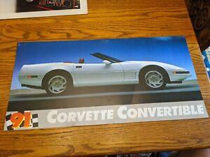 1991 CHEVY CORVETTE CONVERTIBLE DEALERSHIP ADVERTISING SIGN STORE DISPLAY VTG