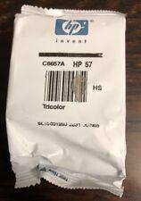 HP 57 Tri-color Original Ink Cartridge Genuine C6657A New Sealed in Bag no Box