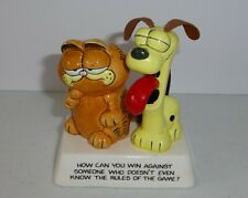 "New ListingGarfield and Odie ""How Can You Win."" Vintage Ceramic Figurine-Jim Davis"