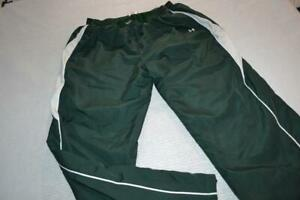 23546-a Womens Under Armour Gym Pants Basketball Size XL Green Polyester