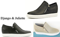 New Django & Juliette Shoes Comfort leather hidden wedge zip shoes Gustava