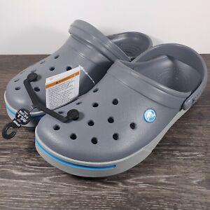 Crocs Crocband II Blue/Gray Men's Size 8/Women's Size 10 Clogs 11989-01W