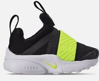 TODDLER BOYS: Nike Presto Extreme Shoes, Black & Green - Size 5C 870019-008