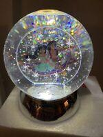 "4.5"" Disney Snow Globe Aladdin Magic Carpet Ride Dept 56 Dazzler Genie Lamp"