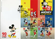 Portugal 2018 FDC Mickey Mouse 90 8v M/S Cover Disney Cartoons Animation Stamps