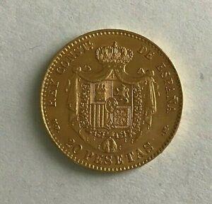 MONNAIE ANCIENNE DE 20 Pesetas OR ALFONSO  XIII  M.P *1890 * M ROI D ESPAGNE