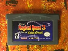 Magical Quest 3 Mickey and Donald Nintendo Gameboy ADVANCE GBA Tested AUTHENTIC