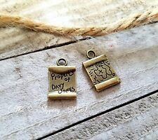 5 Pirate Map Charms Antiqued Bronze Davy Jones Pirate Pendants