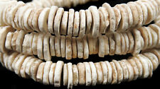 Ostrich Egg Shell Heishi Trade Beads Africa 25 Inch