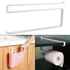 Paper Towel Holder Dispenser Kitchen Cabinet Door Mount Brushed Bar Rack New J