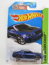 HOT WHEELS 2015 HW WORKSHOP - SPEED TEAM BENTLEY CONTINENTAL SUPERSPORTS BLUE