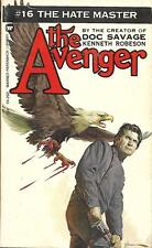 The Avenger #16: THE HATE MASTER by Kenneth Robeson (Creator of Doc Savage)